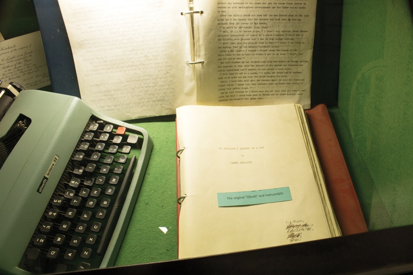 Original typewriter and manuscripts that would go on to make James Herriot a household name.